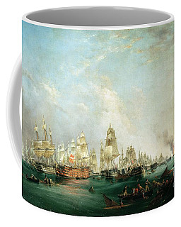 Surrender Of The Santissima Trinidad To Neptune The Battle Of Trafalgar Coffee Mug