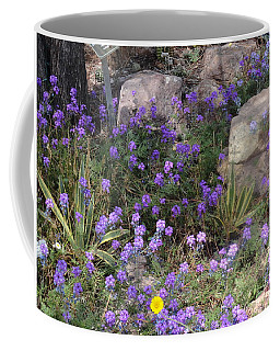Surrounded By Purple Flowers Coffee Mug