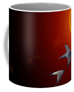 Swallows In Flight Coffee Mug