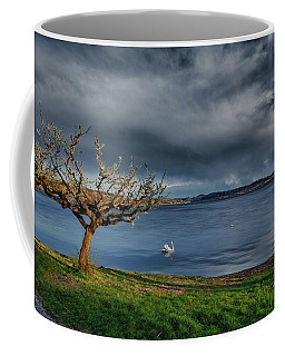 Swan And Tree Coffee Mug