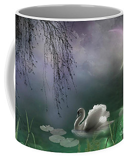 Swan By Moonlight Coffee Mug