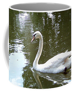Coffee Mug featuring the photograph Swan by Charles Robinson