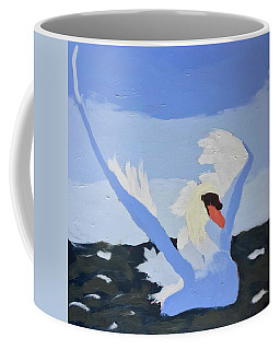 Coffee Mug featuring the painting Swan by Donald J Ryker III