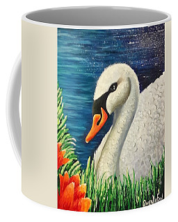 Swan In Pond Coffee Mug