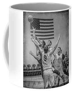 Coffee Mug featuring the photograph Swan In Traffic by Ronald Santini