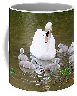 Coffee Mug featuring the photograph Swan Lake 1 by Bill Holkham