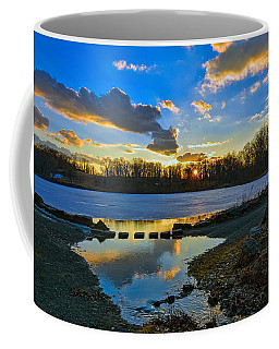 Swan Lake Sunset Coffee Mug