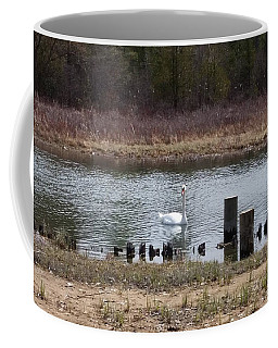 Swan Of Crooked River Coffee Mug by Wendy Shoults