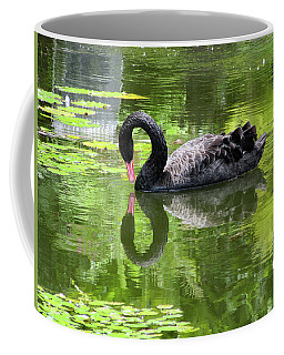Swan Of Hearts Coffee Mug