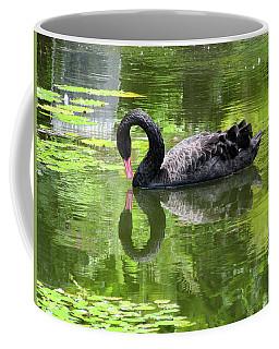 Coffee Mug featuring the photograph Swan Of Hearts by Pamela Walton