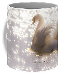 Swan Of The Glittery Early Evening Coffee Mug