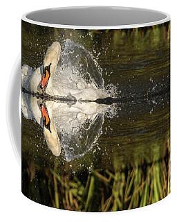Swan Splash Relection  Coffee Mug
