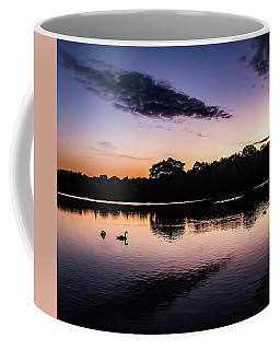 Swans At Sunrise Coffee Mug