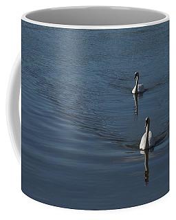 Swans On Deep Blue Coffee Mug