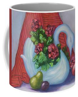 Swanza's Swan Coffee Mug by Quwatha Valentine