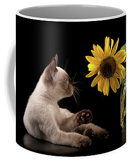 Swatting At Sunflowers Coffee Mug