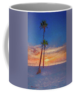 Coffee Mug featuring the photograph Swaying Palms by Marvin Spates
