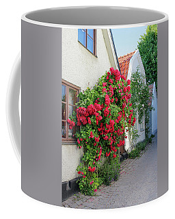 Swedish Town Visby, Famous For Its Roses Coffee Mug