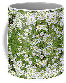 Coffee Mug featuring the digital art Sweet Alyssum Abstract by Linda Phelps