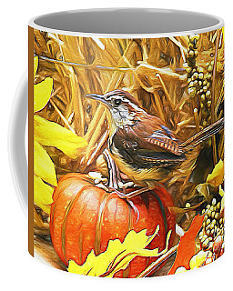 Sweet Carolina Wren Coffee Mug by Tina  LeCour
