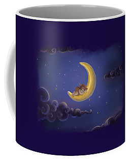 Coffee Mug featuring the drawing Sweet Dreams by Julia Art