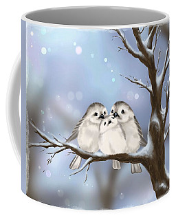 Coffee Mug featuring the painting Sweet Family by Veronica Minozzi