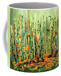 Coffee Mug featuring the painting Sweet Jammin' Peas by Holly Carmichael