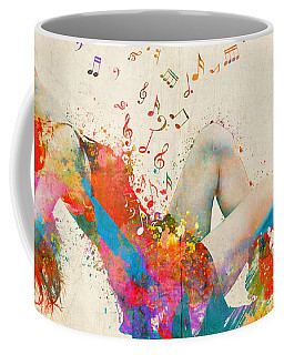 Coffee Mug featuring the digital art Sweet Jenny Bursting With Music Cropped by Nikki Marie Smith