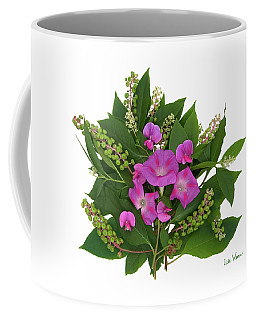 Coffee Mug featuring the photograph Sweet Pea Bouquet by Lise Winne