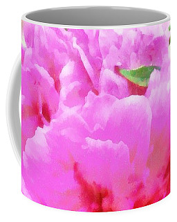 Sweet  Pink Peony Coffee Mug by Janine Riley