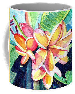 Coffee Mug featuring the painting Sweet Plumeria 2 by Marionette Taboniar