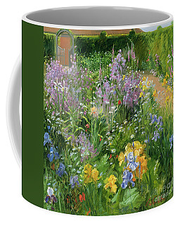 Sweet Rocket - Foxgloves And Irises Coffee Mug