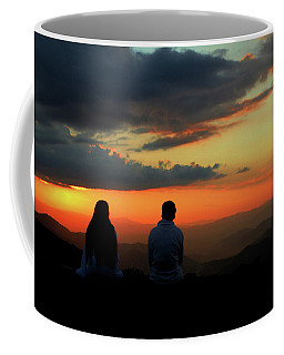 Coffee Mug featuring the photograph Sweetheart Sunset by Jessica Brawley