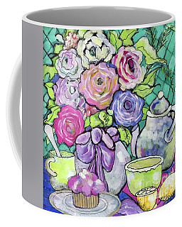 Coffee Mug featuring the painting Sweetness And Tea by Rosemary Aubut