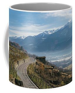 Swerving Road In Valtellina, Italy Coffee Mug