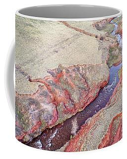 swift creek at  Colorado foothills - aerial view Coffee Mug