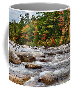 Swift River Runs Through Fall Colors Coffee Mug