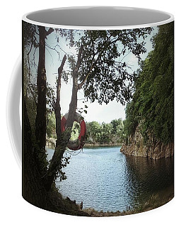 Swimming At The Quarry Coffee Mug by Karen Stahlros