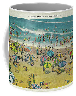 Swimming At Virginia Beach Coffee Mug