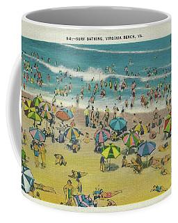 Swimming At Virginia Beach Coffee Mug