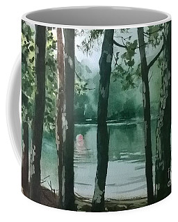 Coffee Mug featuring the painting Swimming Hole by Elizabeth Carr