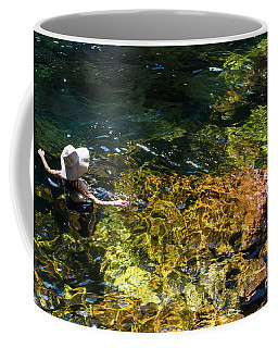 swimming in the Buley Rockhole waterfalls Coffee Mug