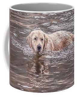 Swimming Puppy Coffee Mug