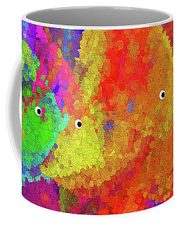 Swimming Rainbow Fish Abstract Coffee Mug