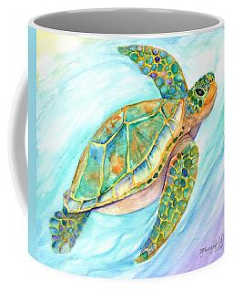Swimming, Smiling Sea Turtle Coffee Mug