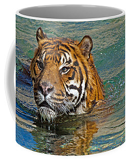 Swimming Tiger Coffee Mug