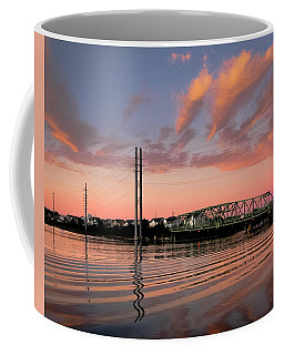 Swing Bridge At Sunset, Topsail Island, North Carolina Coffee Mug