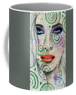 Coffee Mug featuring the drawing Swirl Girl by P J Lewis