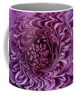Purple Mum Abstract Coffee Mug by Glenn Gordon