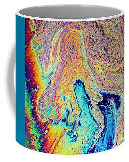 Coffee Mug featuring the photograph Swirling Soap by Jean Noren